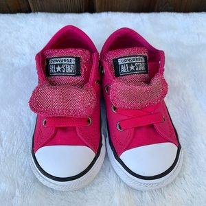 Convers Girls Maddie Metallic hot pink shoes